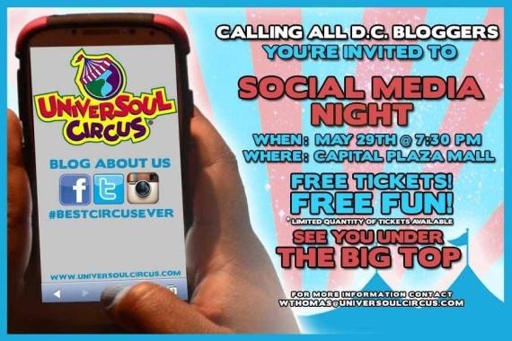 Social Media Night at the Universal Soul Circus!